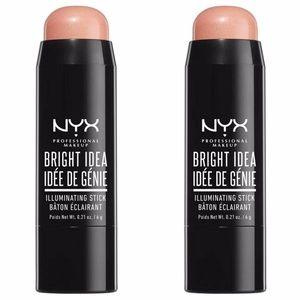 NYX Makeup - Lot 2 NYX Pinkie Dust Illuminating Sticks Makeup